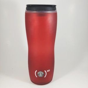 STARBUCKS Lucy Red Rubber Insulated Travel Mug